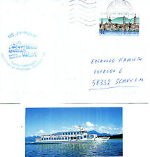 GERMANY PLEASURE CRUISER MS IRMINGARD A SHIPS COVER & A SMALL MAGAZINE PICTURE