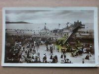 WESTON SUPER MARE 1911 GRAND PIER VINTAGE RP REAL PHOTO POSTCARD HARVEY BARTON