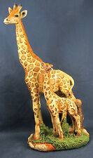 Giraffe African sub-Saharan Wildlife Mom and Baby Figurine