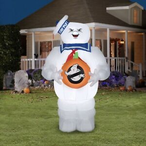 New 5 FT Ghostbusters Stay Puft Marshmallow Man Halloween Inflatable FAST SHIP🎃