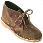 PETITS MARCHEURS Boot Chukka Desert Camo Kid Boy 31 Lace Up Ankle Crepe 13 Suede