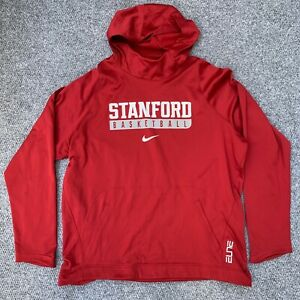 Nike Mens Large Stanford Cardinal Fan Pullover Hoodie Red Long Sleeve Sweatshirt