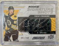2019-20 ENGRAINED TRENT FREDERIC ROOKIE SIGNATURE SHOTS AUTO /249 STICK BRUINS