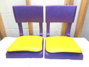 Pair of Purple & Gold Stadium Bleacher Seats