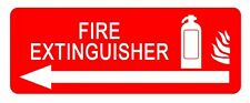 Fire Extinguisher Arrow Left-Information Self Adhesive label 100 mm x 148 mm 4 CT