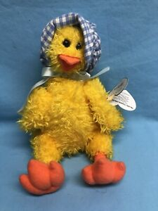 """TY The Attic Treasures Collection BONNIE Duck 8"""" Retired PVC PELLET 1993 NEW"""