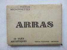 ARRAS FRANCE.MINI PHOTOGRAPH SET,10 DELUX,1940-50 ?,FAUCHOIS BETHUNE