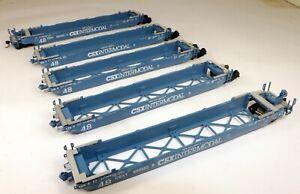 Athearn #5917 5 Car Gunderson Maxi-III Well Set CSX #620322 1/87 HO Scale