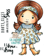 COWBOY BOOTS MARCI-La-La Land Crafts Cling Rubber Stamp-Stamping Craft-Girl