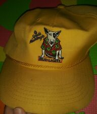 Vintage yellow vtg  Spuds MacKenzie dog Trucker Hat Bud Light Beer Budweiser