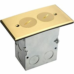 Floor Box Tamper-Weather Resistant Duplex Receptacle Outlet 975506-C Brass