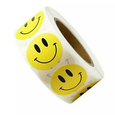 50x 1Inch Smiley Face Stickers Label  Reward Sticker Album Students Decorations