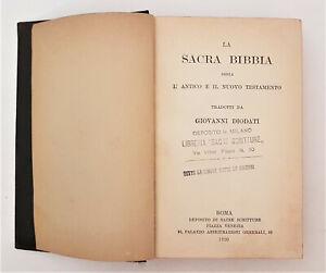 LA SACRA BIBBIA tradotta da Giovanni DIODATI - 1920 Deposito Sacre Scritture
