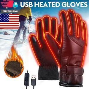 Winter Electric Heated Gloves Warmer USB Outdoor Motorcycle Mittens Waterproof