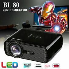 3D Projector 1080P FHD LED LCD Multimedia Smart Home Theater HDMI USB VGA SD AV