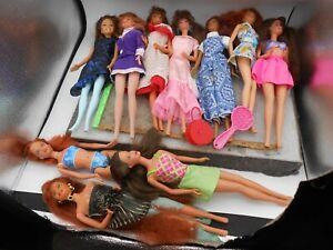 VINTAGE LOT OF 10 Brunette, redheads Barbies dolls 1985, 1998, 2000, bag, more