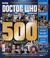 Doctor Who BBC Magazine CELEBRATING 500 ISSUE Peter Capaldi poster stickers