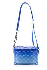Louis Vuitton Clouds Monogram Canvas Soft Trunk Shoulder Handbag Blue