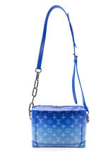 Nubes de lona Monogram Louis Vuitton Suave tronco Hombro Bolso de Mano Azul
