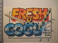 Aufkleber Sticker Fanta & Sprite - Fresh & Cool - 80er Jahre - Decal (4081)
