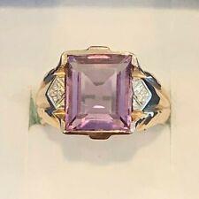 14k White Gold Men's Amethyst Ring