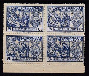 España - Guerra Civil - Ferrol del Caudillo - Beneficiencia - Bloque 4