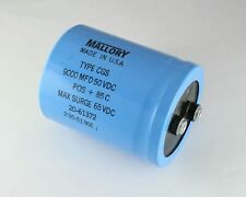2x 9000uF 50V Large Can Electrolytic Aluminum Capacitor 9000mfd 9,000 50VDC DC