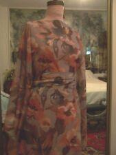 5yd French Grey Multicolor Floral Print Georgette Chiffon Fabric Semi Sheer