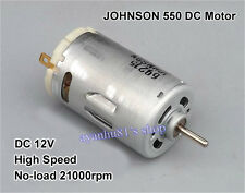 DC 12V JOHNSON 550 DC Motor 21000RPM High Speed High Power for Electric Tool Toy