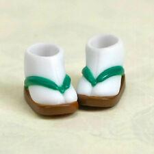 Obitsu Doll 11cm Sandals / Tabi Sets Green & Brown w Magnet F/S