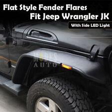 Newest 2007-2017 Jeep Wrangler JK JKU Extender Flat Fender Flares w/ LED Light