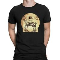 Da Vinci Drummer T-Shirt Mens Ladies Unisex Fit Funny Urban Music