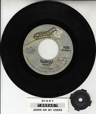 "BREAD  Diary  7"" 45 rpm vinyl record + juke box title strip"