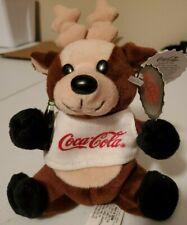 Coca-Cola Reindeer in Shirt Bean Bag Plush style 0133 1997