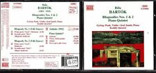 CD 1252  BELA  BARTOK RHAPSODIES NOS 1 & 2