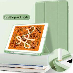 Smart Silicon iPad Case Cover&Pen Holder For Apple iPad 9th 8th 7th 6th Gen Mini