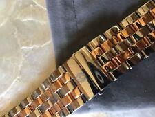 MICHELE LARGE SPORT SAIL 2 tone RG /SS 20mm  watch bracelet - MS20CY31570 $500