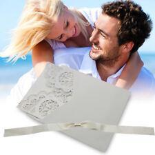 50pz. Biglietto d'Invito Partecipazioni Inviti Laser Cut con Busta Matrimonio