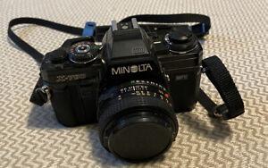 Minolta X-700 MPS-35mm Camera Black w/ MD 50mm f/1.7 From JAPAN!!!!!!!