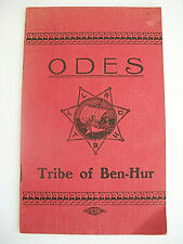 """""""Odes"""" songs for """"The Tribe Of Ben Hur"""" & for exclusive use of the Courts"""