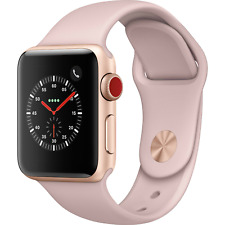 Apple Watch 38mm Series 3 Gold Aluminum Pink Sand Sport GPS Cellular MQJQ2LL/A