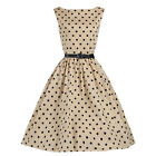 Plus Size Womens Retro 50s Rockabilly Swing Pinup Housewife Party Dresses Gown