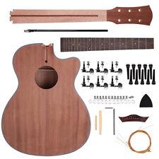 40'' Acoustic Guitar, Guitar DIY Unfinished Kit for Student Kid Guitar Player Mu
