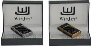 WinJet Premium Feuerzeug, 2 Motive, edel, Deluxe Gasfeuerzeug, Softflamme, Stein