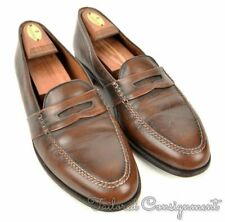 PAUL STUART Solid Brown Leather Mens Penny Loafer Dress Shoes - 10.5