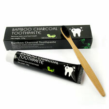 Bamboo Charcoal Teeth Whitening Toothpaste  Removes Stains 105 G FREE Toothbrush