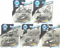 Hot Wheels Character Cars DC Sketched Series Complete 5 Car Set