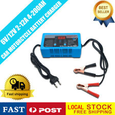 12V 6V 2-12A Smart Fast Lead-acid Battery Charger for Car Motorcycle LCD Display