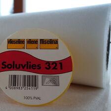 SOLUVLIES 321 Freudenberg wasserlösliches Stickvlies METERWARE 90cm b Vlieseline