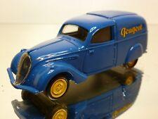 HAND BUILT PEUGEOT 202 FOURGON 1938 - BLUE 1:43 - EXCELLENT - 3